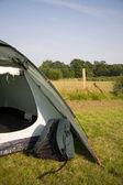 Rucksack and tent — Stock Photo