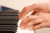 Playing keyboard — Stock Photo