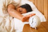 Kobieta budzi się — Zdjęcie stockowe