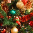 Christmas ornaments on tree — ストック写真