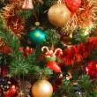 addobbi natalizi albero — Foto Stock