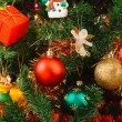 Christmas ornaments on tree — Stock Photo #13379516
