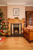 自宅でクリスマス — ストック写真