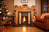 χριστουγεννιάτικο καθιστικό — Φωτογραφία Αρχείου