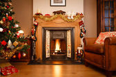 Christmas living room — Stockfoto