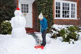 Person shoveling snow — Stock Photo