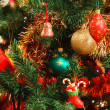 Christmas decorations on tree — Foto de Stock