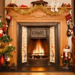 Christmas fireplace — Stock Photo #14109488