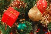 Christmas tree close up — Stock Photo