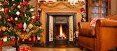 Panorama interior de navidad — Foto de Stock