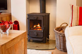 Wood burning stove — Stock Photo