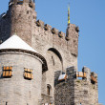 medeltida slottet Europa — Stockfoto