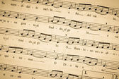 Sheet music antique — Stock Photo