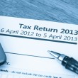 UK tax return 2013 — Stock Photo