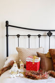 Christmas bedroom copyspace — Stock Photo