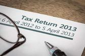 UK tax return 2013 — Stock Photo