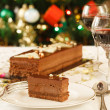 Stock Photo: Christmas cake dessert
