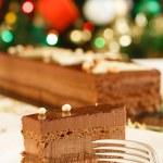 Christmas cake dessert — Stock Photo
