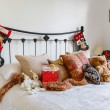 Christmas bedroom — Stock Photo