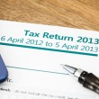 Tax return UK 2013 — Stock Photo #30964911