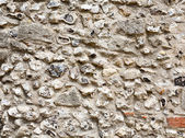 Flint stone wall — Stock Photo