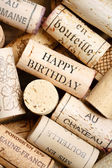 Wine cork background with copy space — Stock Photo