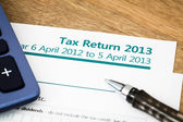 Tax return UK 2013 — Stock Photo