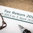 Tax return 2014 — Stock Photo #49469649