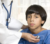 Boy at the doctor's office — Stock Photo