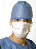 Blue doctor ready — Stock Photo
