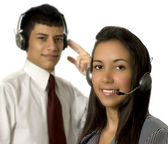 Callcenter in action — Stock Photo