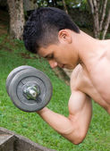 Man doing exercise — Stock Photo