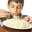 Eating pasta — Stock Photo