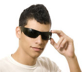 Man with sun glasses — Stock Photo
