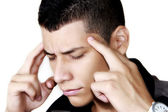 Young man with a headache — Stock Photo