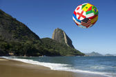 International football soccer ball Rio de Janeiro Brazil — Stock Photo