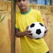 Young Brazilian soccer football player — Stock Photo