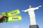 Entradas para la copa mundial fútbol en corcovado rio de janeiro — Foto de Stock