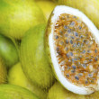 Stock Photo: Fresh Passionfruit Maracujat BraziliFarmers Market