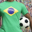 Brazilian Soccer Football Player Salvador Wish Ribbons — Stock Photo