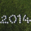 Message for 2014 Made with Football Soccer Balls — Stock Photo