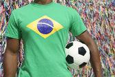 Brazilian Soccer Football Player Salvador Wish Ribbons — Stock Photo