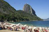 Красный пляж Рио-де-Жанейро Бразилия горы Сахарная голова — Стоковое фото