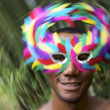 Brazil Carnaval Smiling Brazilian Man in Colorful Mask — Stock Photo #37850665