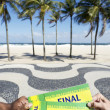 Tickets to Football Soccer Final Event in Copacabana Rio Brazil — Stock Photo