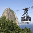 Stock Photo: Sugarloaf Pao de Acucar Mountain Cable Car Rio