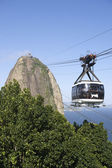 Sugarloaf Pao de Acucar Mountain Cable Car Rio — Foto de Stock