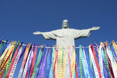Fita do Bonfim Brazilian Wish Ribbons Corcovado Rio — Stock Photo
