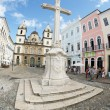 Colonial Christian Cross in Pelourinho Salvador Bahia Brazil — Stock Photo #38170097