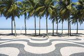 Copacabana Beach Boardwalk Rio de Janeiro Brazil — Stock Photo